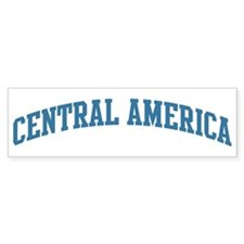 Central America (blue) Bumper Bumper Sticker