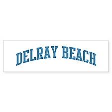 Delray Beach (blue) Bumper Car Sticker
