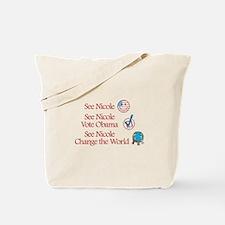 See Nicole Vote Obama Tote Bag