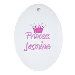 Princess Jasmine Oval Ornament