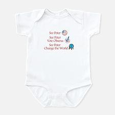 See Peter Vote Obama Infant Bodysuit