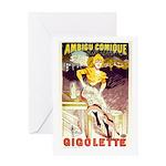 Gigolette Greeting Card