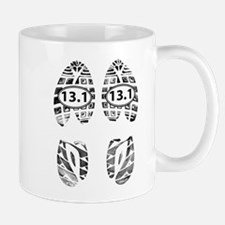 13.1 HALF MARATHON FOOTPRINTS Mugs