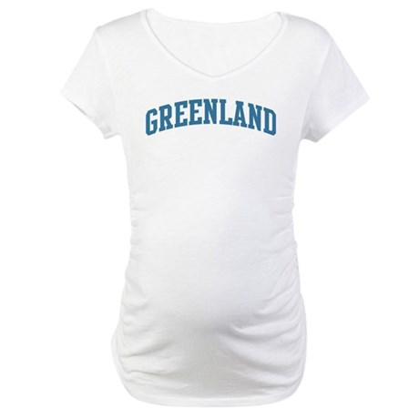 Greenland (blue) Maternity T-Shirt