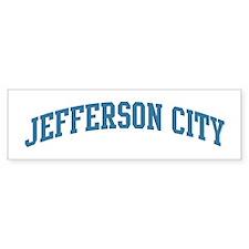 Jefferson City (blue) Bumper Bumper Sticker