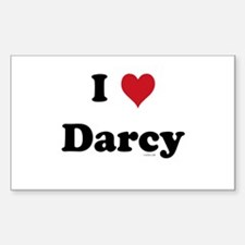 I love Darcy Rectangle Decal