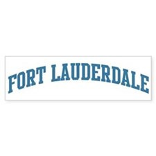 Fort Lauderdale (blue) Bumper Bumper Sticker