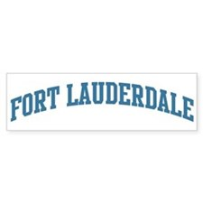 Fort Lauderdale (blue) Bumper Car Sticker