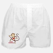 Love Monkey Heart Boxer Shorts