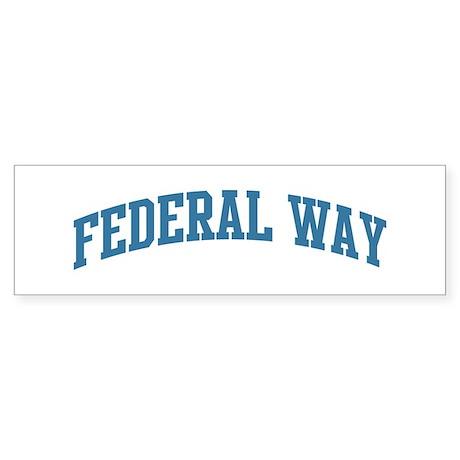 Federal Way (blue) Bumper Sticker (10 pk)