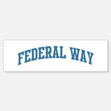 Federal Way (blue) Bumper Bumper Bumper Sticker