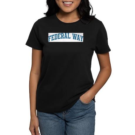Federal Way (blue) Women's Dark T-Shirt
