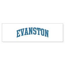 Evanston (blue) Bumper Sticker (50 pk)