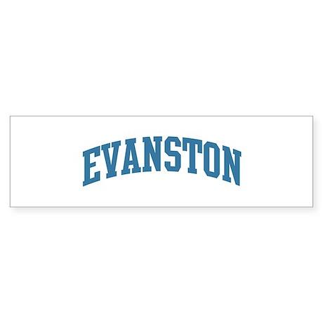 Evanston (blue) Bumper Sticker (10 pk)