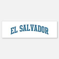 El Salvador (blue) Bumper Bumper Bumper Sticker