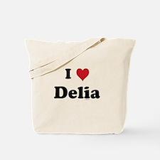 I love Delia Tote Bag