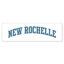 New Rochelle (blue) Bumper Bumper Sticker