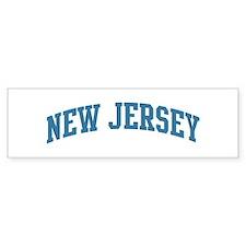 New Jersey (blue) Bumper Car Sticker