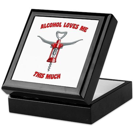 Alcohol Loves Me Keepsake Box