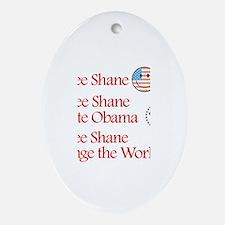 See Shane Vote Obama Oval Ornament