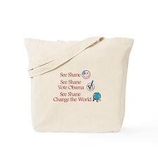 See Shane Vote Obama Tote Bag