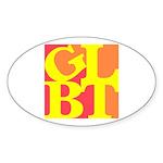 GLBT Hot Pop Oval Sticker (10 pk)