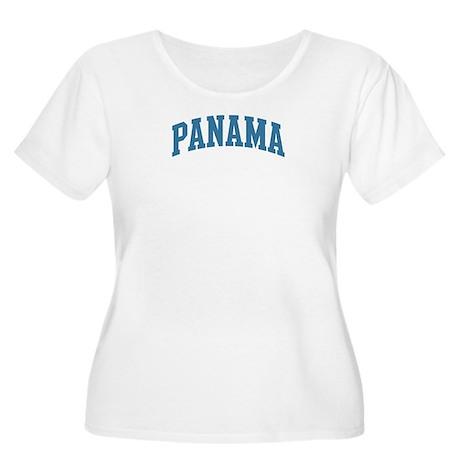 Panama (blue) Women's Plus Size Scoop Neck T-Shirt