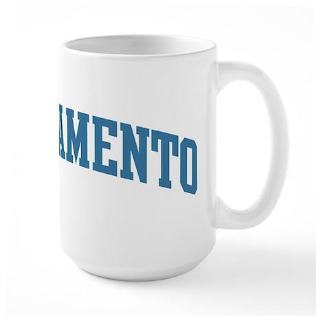 Sacramento (blue) Large Mug
