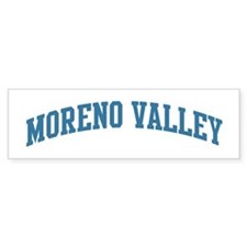 Moreno Valley (blue) Bumper Bumper Sticker