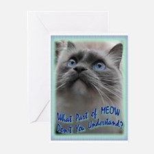 Cute Ragdoll cats Greeting Cards (Pk of 10)