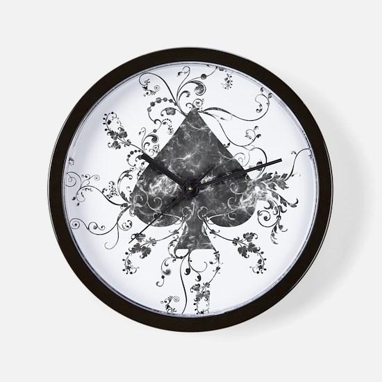 Black Spade Wall Clock