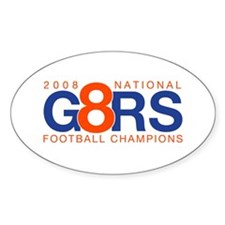 Gators 2008 Champions - Oval Decal