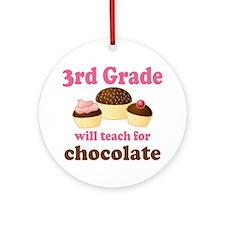Funny 3rd Grade Ornament (Round)