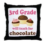 Funny 3rd Grade Throw Pillow