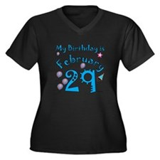 February 29th Birthday Women's Plus Size V-Neck Da