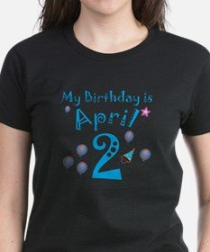 April 2nd Birthday Tee