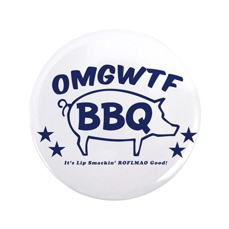 "OMGWTFBBQ 3.5"" Button (100 pack)"