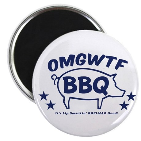 """OMGWTFBBQ 2.25"""" Magnet (100 pack)"""