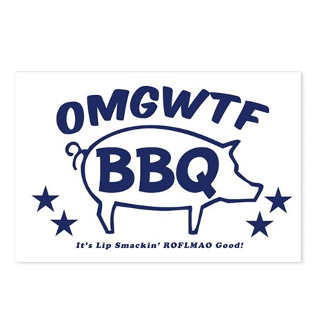 OMGWTFBBQ Postcards (Package of 8)