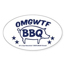 OMGWTFBBQ Oval Decal