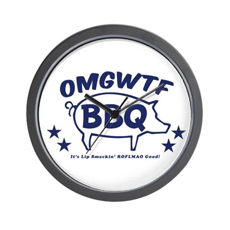 OMGWTFBBQ Wall Clock