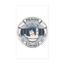 Praise the Chord Rectangle Decal