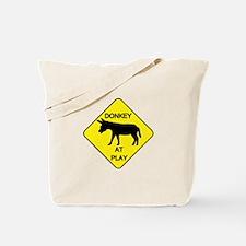 Donkey at Play Tote Bag