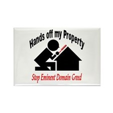 Hand's off my Property Rectangle Magnet