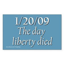 1/20/09 - The day liberty died Rectangle Decal