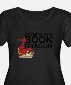 Book Dragon Plus Size T-Shirt
