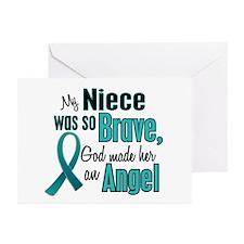 Angel 1 TEAL (Niece) Greeting Cards (Pk of 10)
