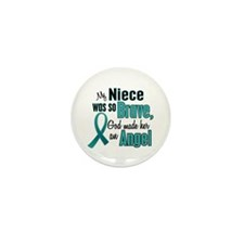 Angel 1 TEAL (Niece) Mini Button (10 pack)