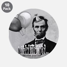 """Lincoln's Birthday 3.5"""" Button (10 pack)"""