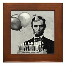 Lincoln's Birthday Framed Tile